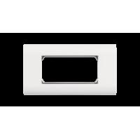 Лицевая панель NIKOMAX, французский формат Mosaic, под 2 вставки 45х45мм, с подрамником, белая
