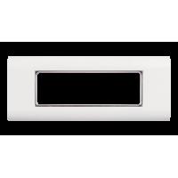 Лицевая панель NIKOMAX, французский формат Mosaic, под 3 вставки 45х45мм, с подрамником, белая