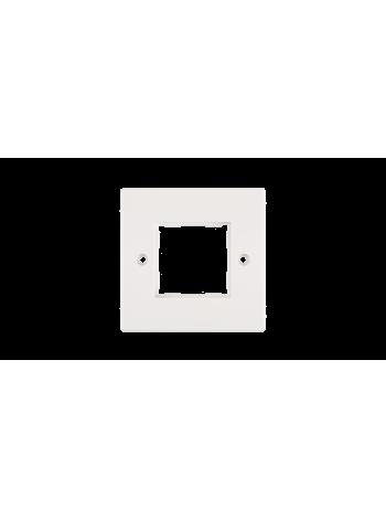 Лицевая панель NIKOMAX, французский формат Mosaic, 86х86мм, для вставок 45х45мм, белая купить с доставкой в Ростове-на-Дону - Смарт
