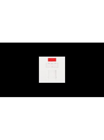 Вставка NIKOMAX, французский формат Mosaic, 45x45мм, 1 порт, под модули Keystone, со шторкой, белая купить с доставкой в Ростове-на-Дону - Смарт