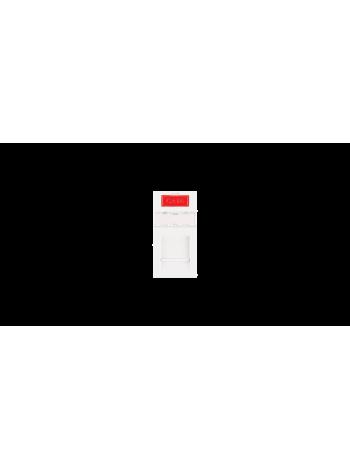 Вставка NIKOMAX, французский формат Mosaic, 22,5x45мм, 1 порт, под модули Keystone, со шторкой, белая купить с доставкой в Ростове-на-Дону - Смарт