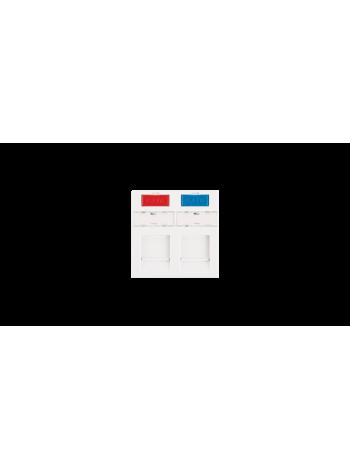 Вставка NIKOMAX, французский формат Mosaic, 45x45мм, 2 порта, под модули Keystone, со шторками, белая купить с доставкой в Ростове-на-Дону - Смарт