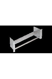 """Конструктив NIKOMAX 19"""", 3U, с круглыми направляющими, для установки плинтов в шкаф или стойку, с органайзером, металлический"""