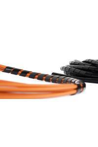 Лента NIKOMAX спиральная для организации и защиты кабельных пучков, диаметр 6мм, толщина 1мм, для пучка до 50мм, черная, 10м