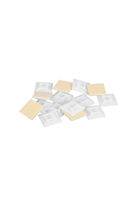 Основание NIKOMAX для стяжек, самоклеящееся, размер 20х20мм, с двумя крепежными отверстиями 2,9 мм, белое, уп-ка 100шт.