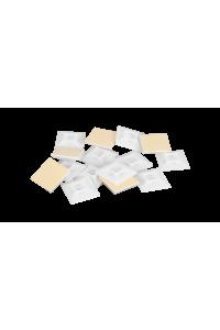 Основание NIKOMAX для стяжек, самоклеящееся, размер 28х28мм, с крепежным отверстием 5,5 мм, белое, уп-ка 100шт.
