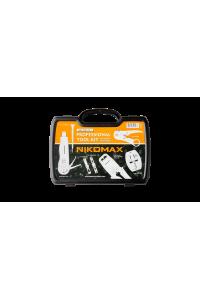 Набор инструментов NIKOMAX. Комплект №1, для медных сетей (обжимной инструмент, ударный инструмент с 2-мя ножами, стриппер, площадка для монтажа коммутационных модулей, коннекторы 20шт., защитные колпачки 20шт.)