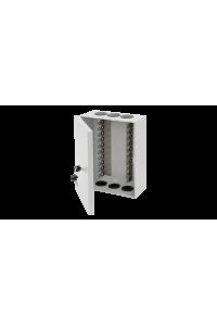 Бокс настенный распределительный NIKOMAX, на 10 плинтов (до 100-та пар), с кронштейнами, пластиковый, с замком, 273х214х108мм, серый
