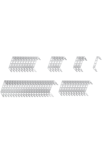 Кронштейн NIKOMAX настенный, на 10 плинтов, металлический, уп-ка 2шт.
