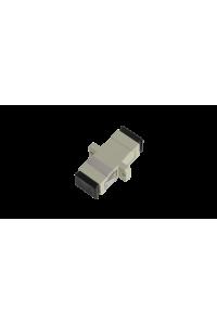 Адаптер NIKOMAX волоконно-оптический, соединительный, многомодовый, SC/UPC-SC/UPC, одинарный, пластиковый, бежевый, уп-ка 2шт.