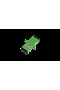 Адаптер NIKOMAX волоконно-оптический, соединительный, одномодовый, SC/APC-SC/APC, одинарный, пластиковый, зеленый, уп-ка 2шт.