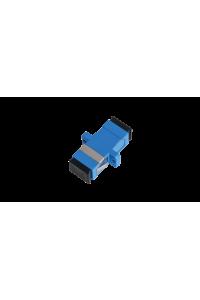 Адаптер NIKOMAX волоконно-оптический, соединительный, одномодовый, SC/UPC-SC/UPC, одинарный, пластиковый, синий, уп-ка 2шт.