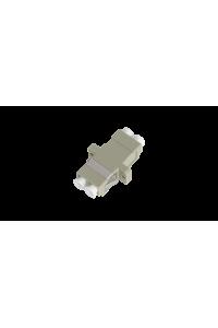 Адаптер NIKOMAX волоконно-оптический, соединительный, многомодовый, LC/UPC-LC/UPC, двойной, пластиковый, бежевый, уп-ка 2шт.