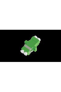 Адаптер NIKOMAX волоконно-оптический, соединительный, одномодовый, LC/APC-LC/APC, двойной, пластиковый, зеленый, уп-ка 2шт.