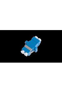 Адаптер NIKOMAX волоконно-оптический, соединительный, одномодовый, LC/UPC-LC/UPC, двойной, пластиковый, синий, уп-ка 2шт.