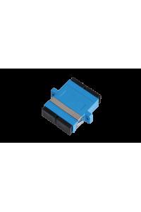 Адаптер NIKOMAX волоконно-оптический, соединительный, одномодовый, SC/UPC-SC/UPC, двойной, пластиковый, синий, уп-ка 2шт.