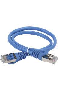 ITK Коммутационный шнур (патч-корд), кат.5Е FTP, 0,5м, синий