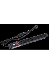 ITK PDU 8 розеток C13 с LED выкл,1U, шнур 2м вилка нем.ст