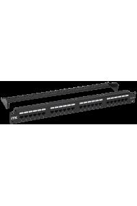 ITK 1U патч-панель кат. 5Е UTP 24 порта (Dual) с каб. орг-м