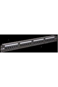 ITK 1U патч-панель кат.5Е UTP, 24 порта (Dual)