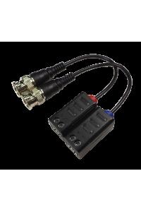 Комплект пассивных приёмо-передатчиков видеосигнала по витой паре с разъёмами BNC на кабеле. Дальность AHD 5Мп-  180м, AHD 4Мп- 200м,AHD-H 250м, AHD-M-320м, CVBS 400м.