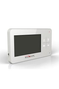 """Домофон 4.3""""; Сенсорные кнопки + механические кнопки для управления; разрешение 480(Г)x272(В); PAL/NTSC; Hands Free; Подключение: 2 выз. панели;  OSD; Питание AC 100-220В (встроенный БП), от внешнего БП DC 14.5В; 162x92x20.7мм"""