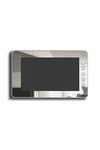 """Домофон 7""""; Механические кнопки; разрешение 800(Г)x480(В); PAL/NTSC; Hands Free; Подключение: 2 выз. панели, 4 монитора в параллели; Питание AC 100-220В (встроенный БП)/от внешнего БП DC 14.5В; 205x128x27.5мм"""