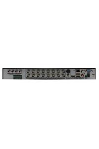 Мультигибридный видеорегистратор 16-ти канальный; H.264; AHD/TVI/CVI: 16x1080N@12к/с, 8x1080N@12к/с+8IPx960p; Видеовыходы - HDMI, VGA; Аудио G.711А - 6/1 RCA; Трев.входы/выходы - 4/1; HDD - 2 SATA (до 10ТБ); Сеть - 100 Мб (RJ45); RS-485; UTC(Coax); DC 12