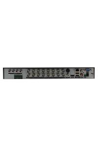Мультигибридный  видеорегистратор 16-ти канальный; H.265/ H.264; AHD: 16х5M@6к/с; AHD/TVI/CVI: 16*4K-N@7к/с; 16х4M@8к/с, 16х1080p@12к/с; AHD:16*4M (6к/с)+IP:16*4M; Воспр.одновр. - до 8 каналов; Видеовыходы - HDMI (4K), VGA; Аудио G.711А - 4/1 RCA; Тревожные вх/вых 6/1; HDD - 2 SATA (до 10ТБ); Сеть - 1000 Мб (RJ45); RS-485; Coax; DC 12В (4А)