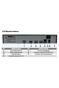4-х кан. IP-видеорегистратор, NETIP, ONVIF, Linux; H.264/H.265;   DSP - Hisilicon Hi3798M; Поддержка  IP-камер -  4x4K(8M)/4M/3M, 8x1080p@25 к/с; HDMI (4K), VGA(1080p); Сеть - 100 МБит/с; HDD - 1 SATA до 10ТБ; DC12В (2A).