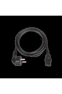 Кабель питания TLK, вход - евровилка с заземлением (Schuko, CEE 7/7) , выход - разъём C13 (IEC 60320),  3x0.75мм2, 1.8 м, 250В 6A, черный
