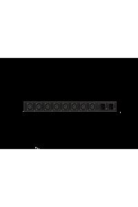 """Блок  контролируемых электрических розеток TLK, 19"""", AT - ATS, Автоматическое переключение питания между вводными линиями, включение и отключение каждой розетки, измерение потребления каждой розетки и отправка показаний через LAN, 8 розеток C13, макс. нагрузка 16 А, Счетчик электроэнергии кВт*ч, Удаленное управление через облако, 2 ввода питания,  2* шнур питания 3 м., 2*вилка С20, металлический корпус, макс. мощность 4000 Вт, 432*44,45*260 мм, цвет черный."""