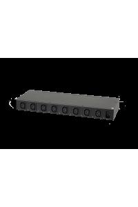 """Блок  контролируемых электрических розеток TLK, 19"""", PM - POM, (включение и отключение каждой розетки, измерение потребления каждой розетки и отправка показаний через LAN), 8 розеток C13, макс. нагрузка 10 А, шнур питания 3 м., вилка С14, металлический корпус, макс. мощность 2500 Вт, 432*44,45*160 мм, цвет черный."""