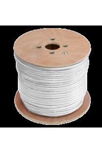 Кабель ULAN коаксиальный, RG-6 (75 Ом), одножильный, CCS (омедненная сталь), внутренний, PVC нг(A), белый, 100м